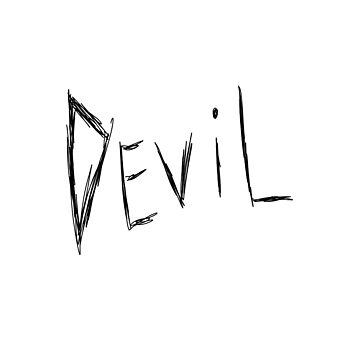 Dark and Gritty DEVIL text by MacSquiddles