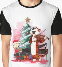 santa calvin and hobbes  Graphic T-Shirt