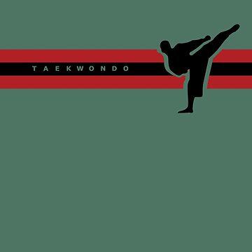 Taekwondo Stripes Black Stripe Belt (1st Kup) by sher00