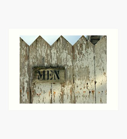 church outhouse....men! Art Print
