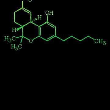 THC Cannabis Marijuana Medicine Chemical Formula by thespottydogg