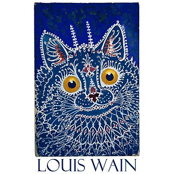 Blue Cat by Louis Wain  by Chunga