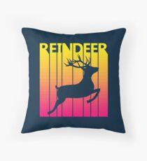 Retro 1980s Reindeer Floor Pillow