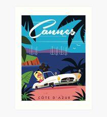 Cannes travel Poster Art Print