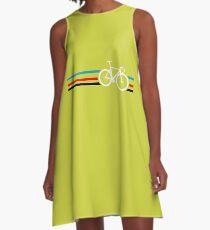 Radstreifen Velodrome A-Linien Kleid