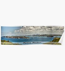 Sydney Harbour Panoramic Shot Poster