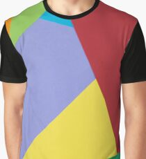 Multicolored geometric shapes pattern, paper collage  Graphic T-Shirt