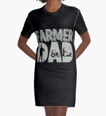 Farmer Dad Gift Idea Farming Farm Agriculture Fathers Day Graphic T Shirt Dress