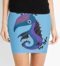 Seahorse jumping around Seaweed in the deep blue sea Mini Skirt