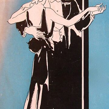Dancing Deco Couple Blue by collageDP