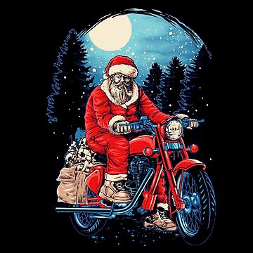 Old Santa With Motorcycle by FredMSage
