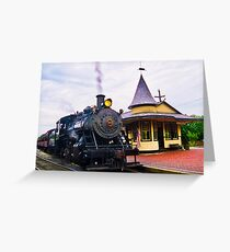 Locomotive Steam Engine Greeting Card