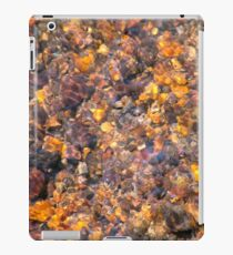 Clear Water Flows Over Golden Brown Pebbles Stream Abstract iPad Case/Skin