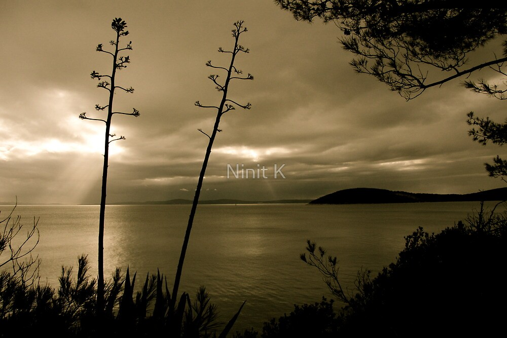 There's no sun up in the sky by Ninit K