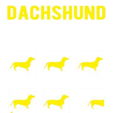 Stubborn Dachshund tricks by goodtogotees
