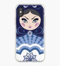 Blue matryoshka doll iPhone Case