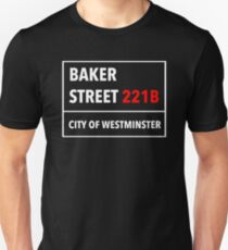 221B Baker Street T Shirt In The Style Of A Street Sign Unisex T-Shirt