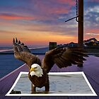 Eagle Pop out Sitting on Table at Sunset by TJ Baccari Photography