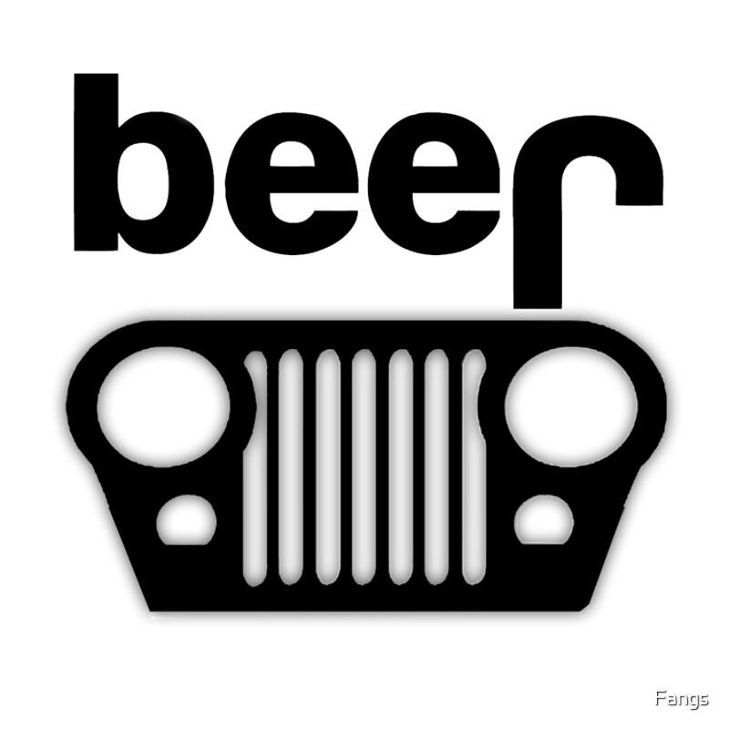 black jeep logo. jeep logo beer black