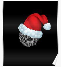 Christmas Yarn Santa Knitting Shirt Gift Poster