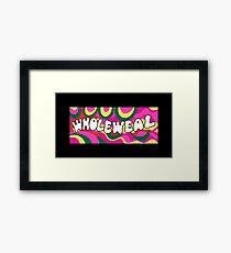 Wholeweal Framed Print