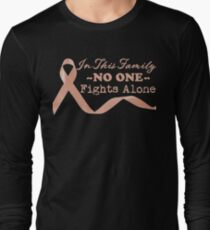 4b0b993581 Uterine Cancer Family Fights Long Sleeve T-Shirt
