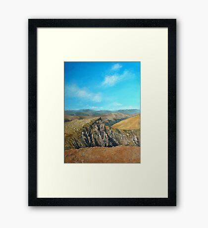 Distant hills Framed Print