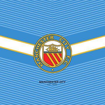 Manchester City Retro Logo | est 1880 | Logo Design - Pillow | Phone Case | Tablet | T Shirt | Duvet | Mug | Clock | Poster | Home Decor and more by footballicon67