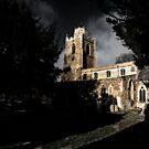 Churchyard shadows by Sue Frank