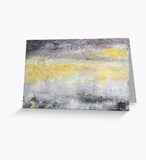 Mist - impressionistic atmosphere in gray and yellow Greeting Card