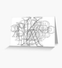Sketch Alpha Greeting Card