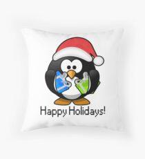 Linux Holiday Season Throw Pillow