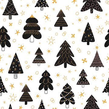 Black Christmas trees pattern by stolenpencil