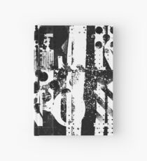Bold Abstract Grunge Monochrome Hardcover Journal