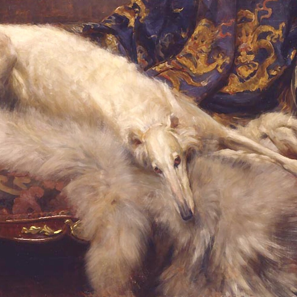 Vintage Lounging Borzoi  by Happy Dog Swag