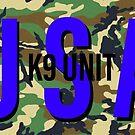 USA K9 camo Sticker  by Workingdogs