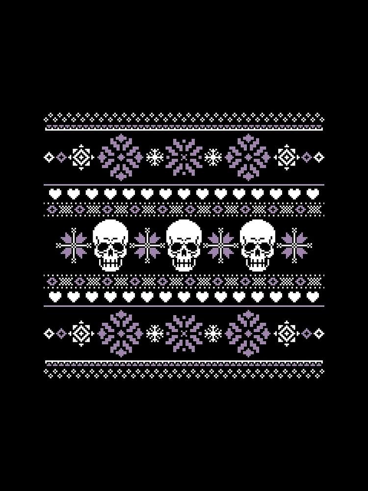 Winter Skull Pullover Lila von DeliriumLina