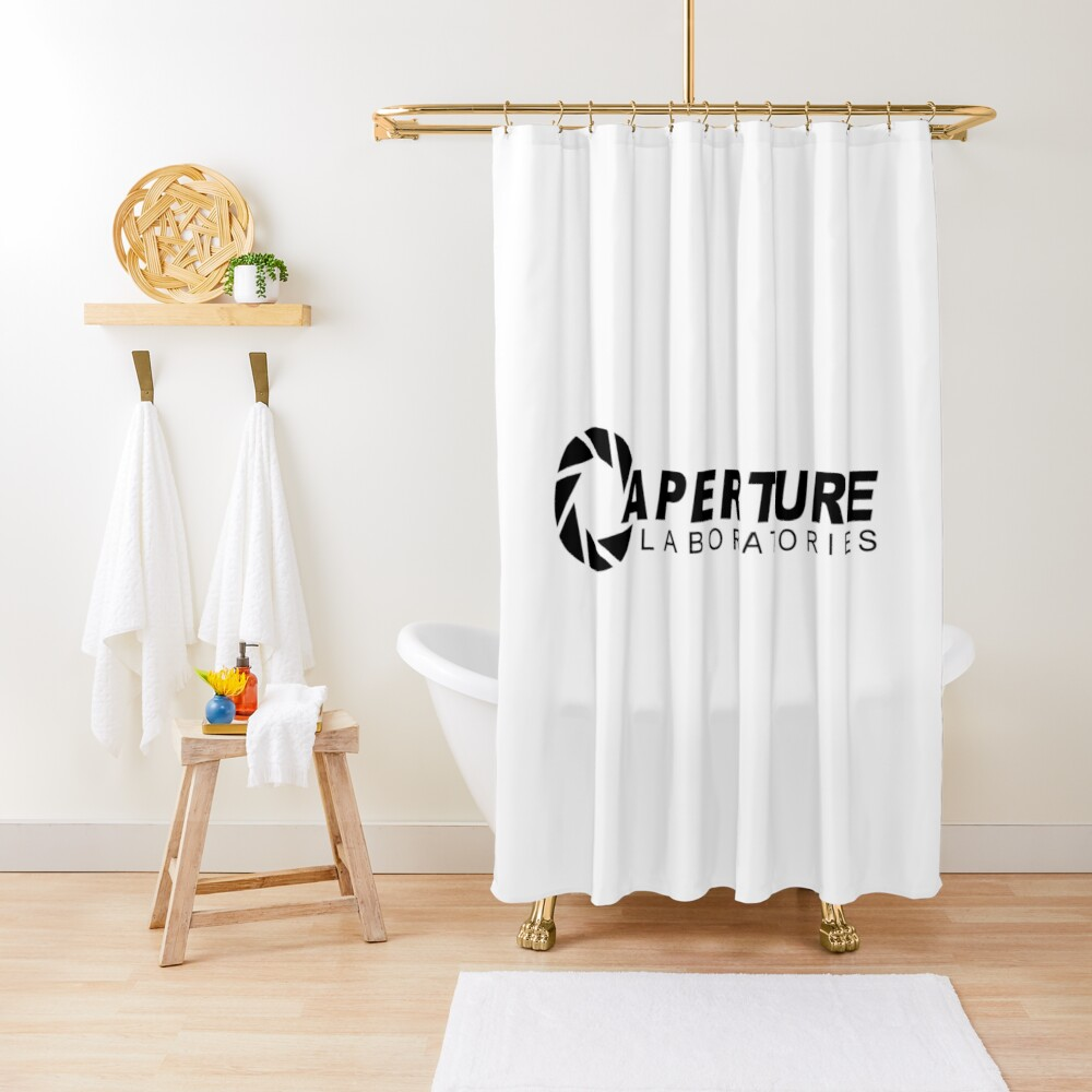 Portal 2: Aperture Science Logo Shower Curtain