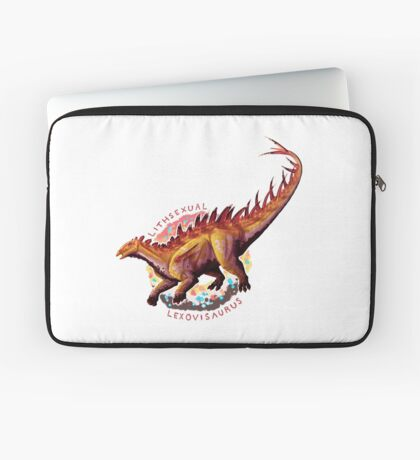 Lithsexual Lexovisaurus (with text)  Laptop Sleeve