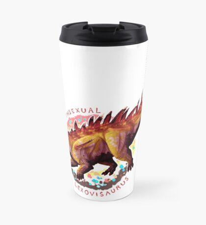 Lithsexual Lexovisaurus (with text)  Travel Mug