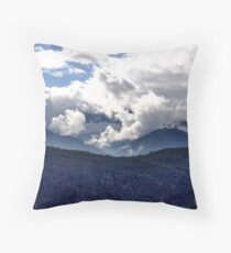 Coast Mountains and Clouds Throw Pillow