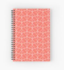 Geometry Pattern 001 - THE LIVING CORAL PANTONE COLOR OF THE YEAR 2019 Spiral Notebook