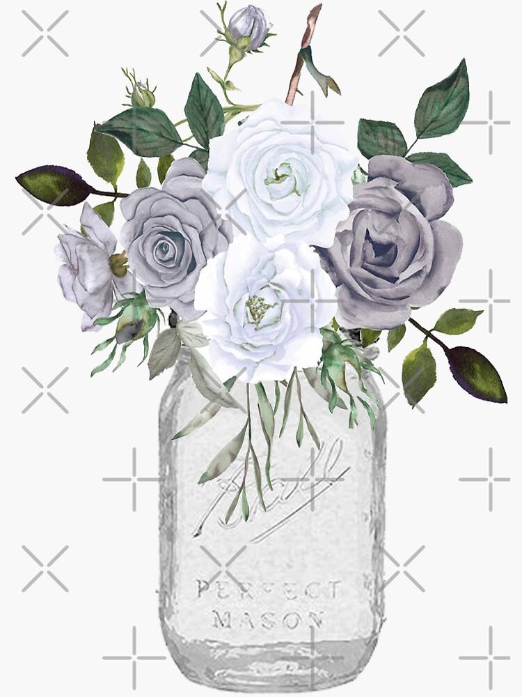 Floral Einmachglas von downhomedears