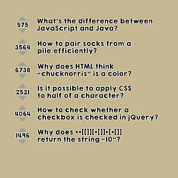 stack overflow funny questions by Caldofran