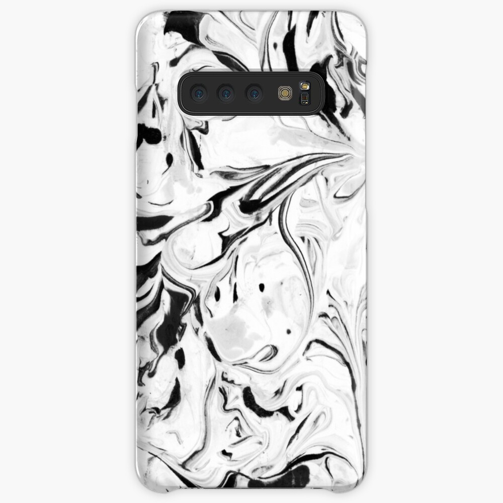 Black and White Marble Case & Skin for Samsung Galaxy