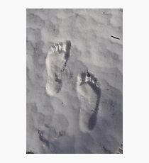 Footprints in the sand.....I mean snow... Photographic Print