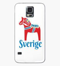 Sverige Dala Dalarna Sweden Pferd Dalecarlian Swedish Hülle & Klebefolie für Samsung Galaxy