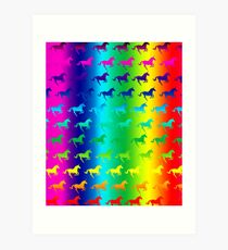 Psychedelic Unicorn Pattern Art Print