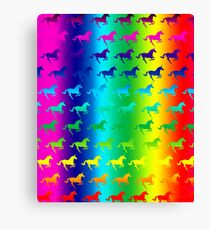 Psychedelic Unicorn Pattern Canvas Print