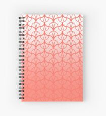 Geometry Pattern 002 - THE LIVING CORAL PANTONE COLOR OF THE YEAR 2019 Spiral Notebook
